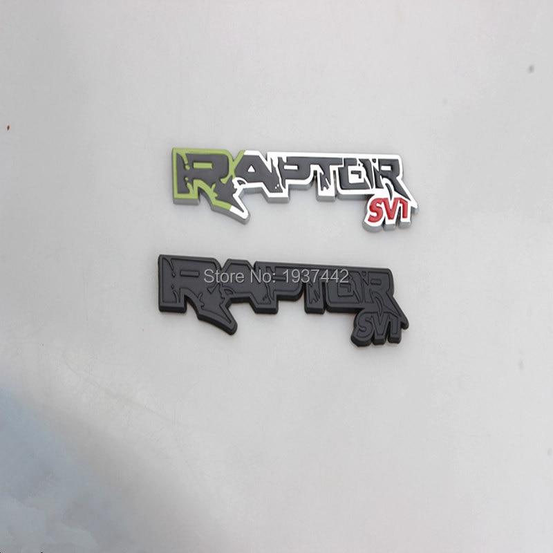 New HOT 10PCS 3D Metal RAPTOR SVT Logo Boot Trunk Badge for Ford F150 Fiesta Kuga Ranger Galaxy Metal Emblem Sticker монстр 1 12 электро savage xs flux ford svt raptor 2 4ghz влагозащита без акб и з у