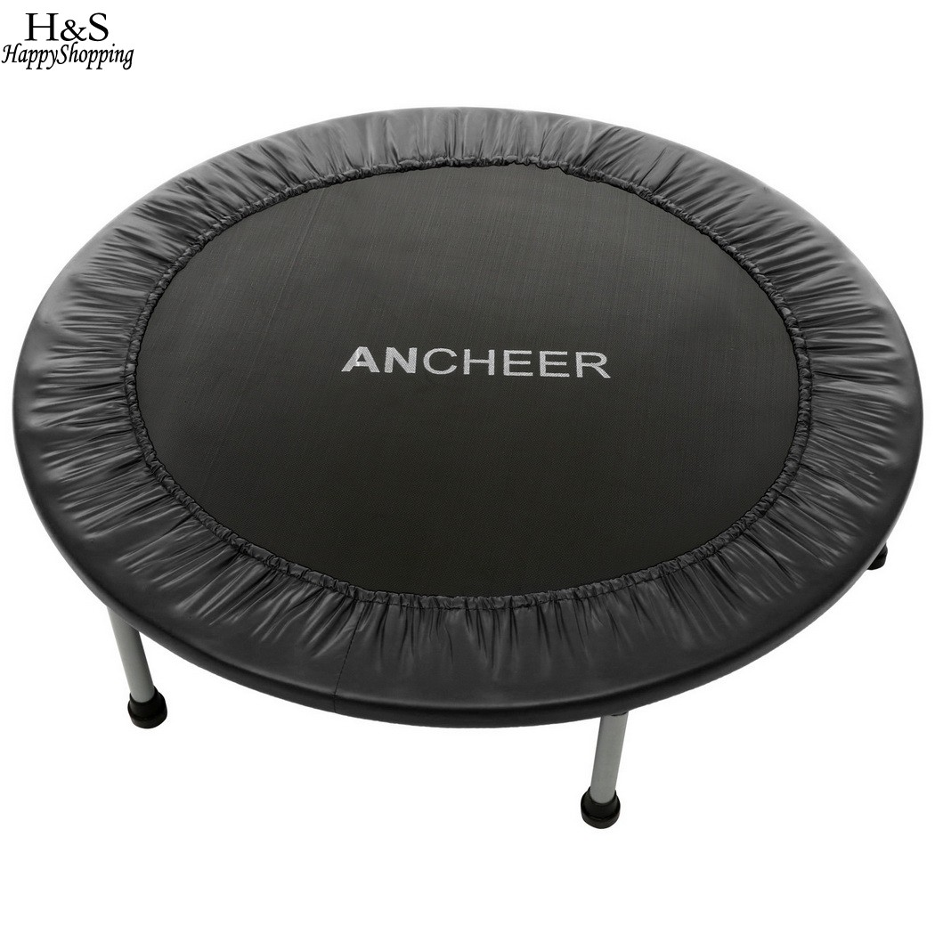 Ancheer New 96cm/38inch Trampoline High quality Folding Trampoline 96cm with Safety Pad fitness Trampoline sports Hot Sale hexagonal fitness bungee trampoline with handrail
