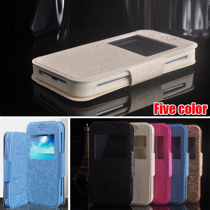 Fly IQ4505 Case, Wholesale Luxury PU Leather Silica Gel Cover Phone Cases for Fly Era Life 7 IQ 4505 Quad Free Shipping