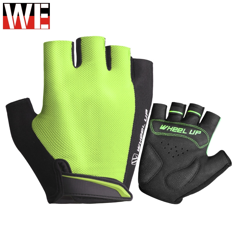 Motocross Gloves Half Finger Anti-slip Motorcycle Gloves MTB Summer Shockproof Silicon Pad Sport Motorbike Gloves Breathable(China)
