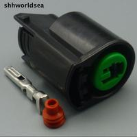 Free Shipping 2 2MM Car Plastic Plug 1 Pin Modern Compressor Plug Auto Waterproof Electrical Connector