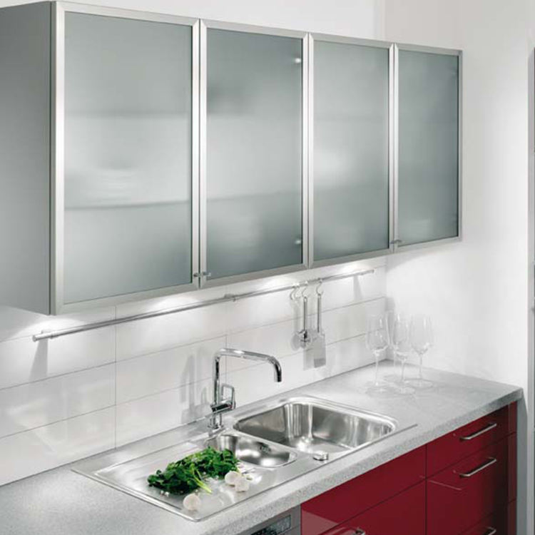 Uke Square Anodized Aluminum Frame For Kitchen Cabinet Glass Door