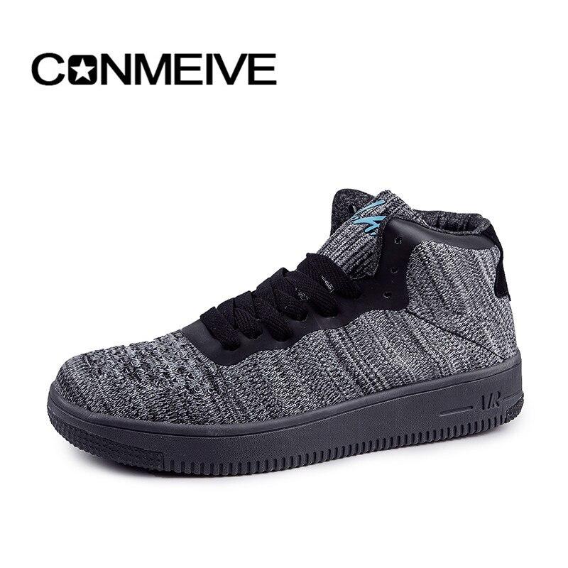 Prix pour D'origine Conmeive Planche À Roulettes Chaussures de star hommes et femmes sneakers pour hommes femmes toile de chaussures tous les bas noir classique
