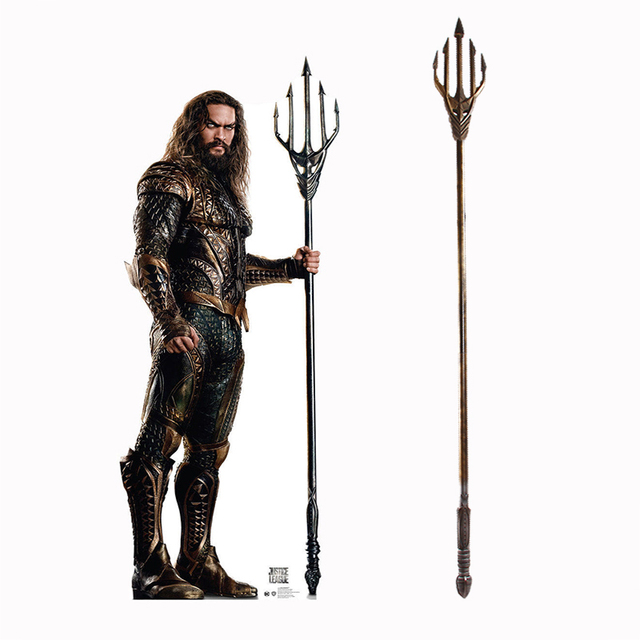 tridente aquaman  Igamer Justice League Aquaman Trident Arthur Curry Cosplay Props ...