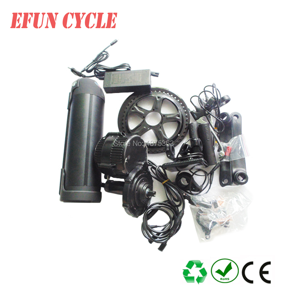 BBS01 Bafang mid drive motor kits BBS01 36V 350W with 36V 13.6Ah Li-ion water bottle dolphin down tube battery for ebikeBBS01 Bafang mid drive motor kits BBS01 36V 350W with 36V 13.6Ah Li-ion water bottle dolphin down tube battery for ebike