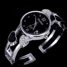 2017 Xinhua Mode Montres Femmes En Acier Inoxydable Bracelet Bracelet Fleur Amant Coeur Forme Montres Femme Horloge Relogios