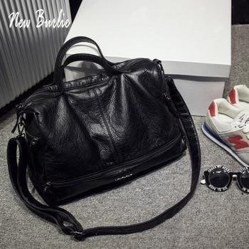 2019 Large Capacity Women Bags Shoulder Tote Bag soft PU Motorcycle  Messenger bags casual handbags Top-handle bags Sac a main