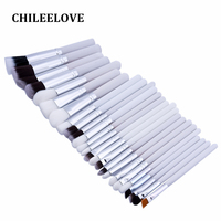 CHILEELOVE 25 Pcs Professional Makeup Brushes Set Power Foundation EyeShadow Blush Blending Make Up Beauty Cosmetic