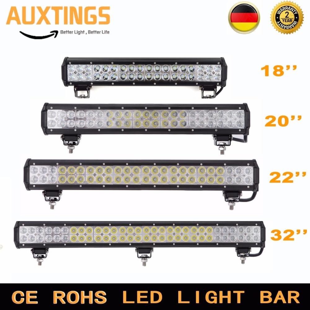 Auto led light bar 18 20 22 28Inch 108w 126W 144W 180W Combo beam 4X4 light