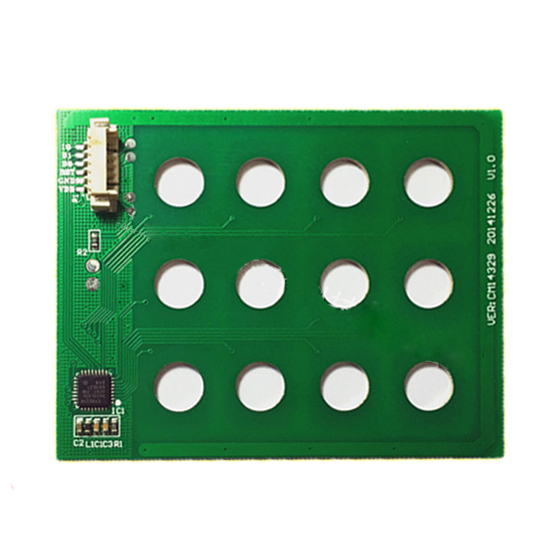 цена на MOOL 12 key access control touchpad 12 key capacitive touch digital keyboard module capacitive touch chip