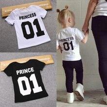 88f35097f0d7ab Kids Kleding 1-2 Jaar T-shirt Tops Prinses Meisjes Tees Baby Baby Jongens