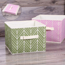 Foldable Storage Collapsible Folding Box Clothes Organizer Fabric Cube Dust  Proof Storage Box(China)