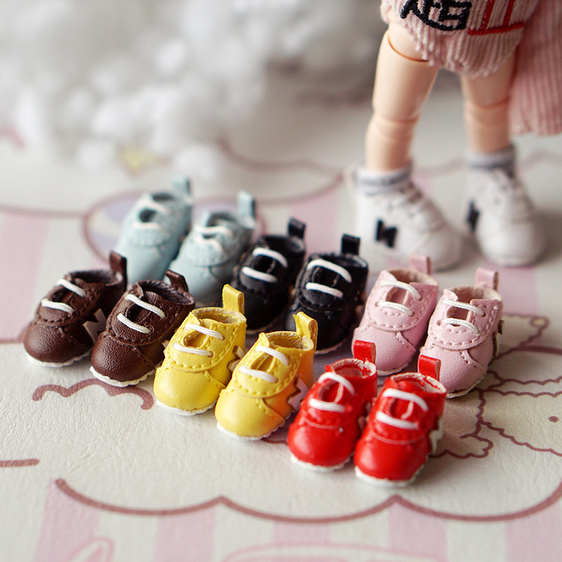 1Pairs 2.2cm Cute Dolls Sneakers Shoes Middle Blyth Doll Sport Shoes Accessories ( Fit Ob11,obitsu11 1/12 Bjd Holala Doll)