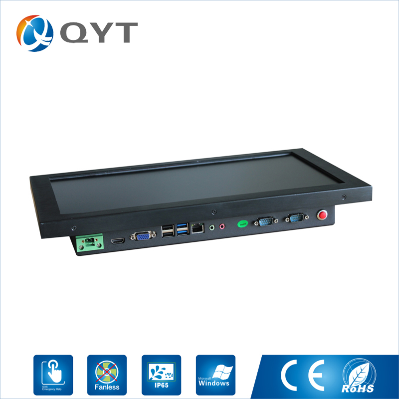 Image 2 - 15.6 inch all in one pc / J1900 2.0GHz/128G SSD 4GB RAM Resistive Touch Screen 1366x768 Industrial Computer Embedded Led PC-in Mini PC from Computer & Office