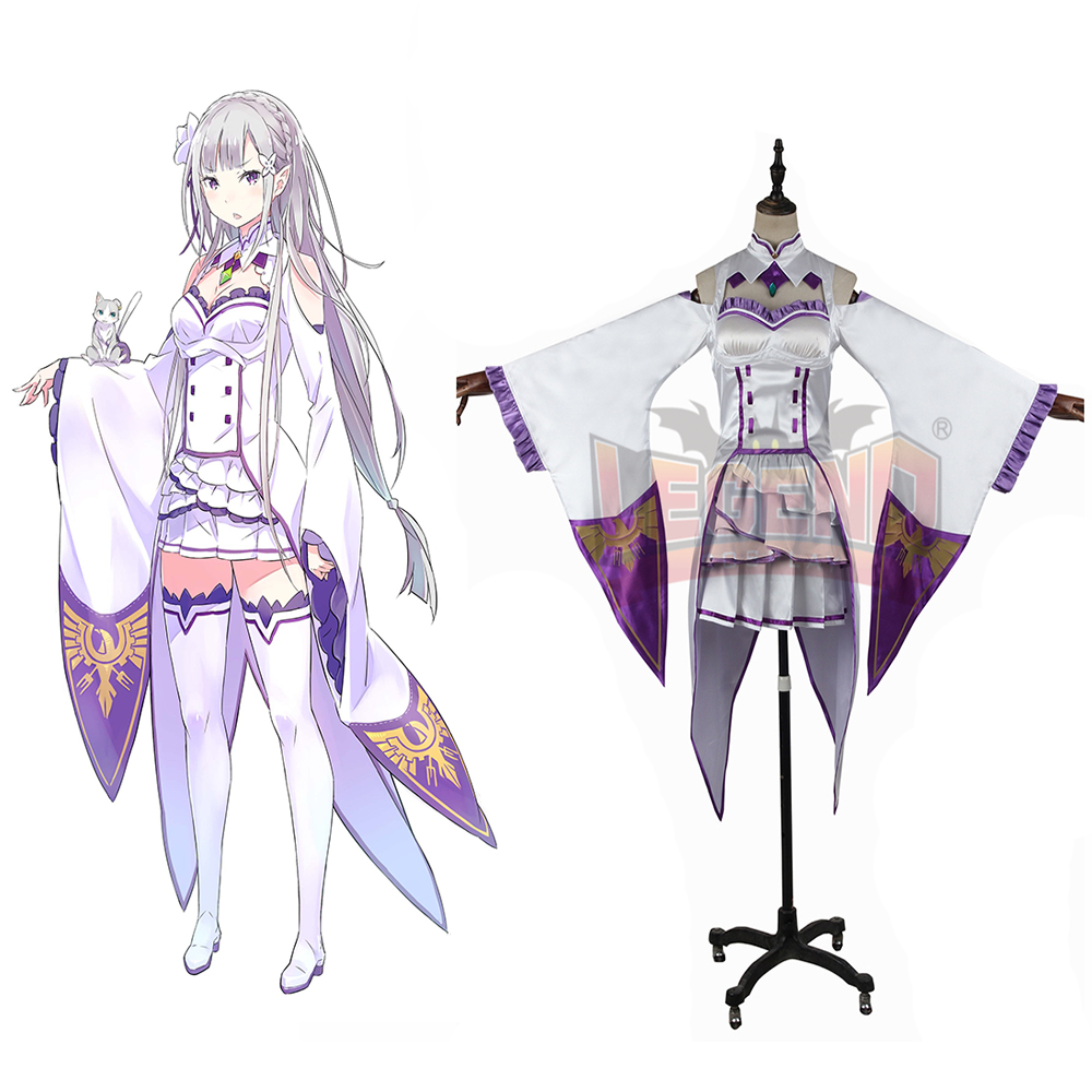 re zero Re: Life in a Different World from Zero Emilia cosplay adult costume full set