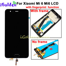 "5.15"" For Xiaomi Mi6 LCD With Fingerprint For XIAOMI Mi6 LCD Display Mi 6 Touch Screen Digitizer Replacement Parts(China)"