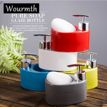 Wormth Free Shipping Bathroom Home Hotel Liquid Soap Dispenser Sanitizer Resin Pump Lotion Shampoo Container Bottle 380ml ball shape liquid soap dispensers pump shower shampoo bottle hand sanitizer container bathroom accessories