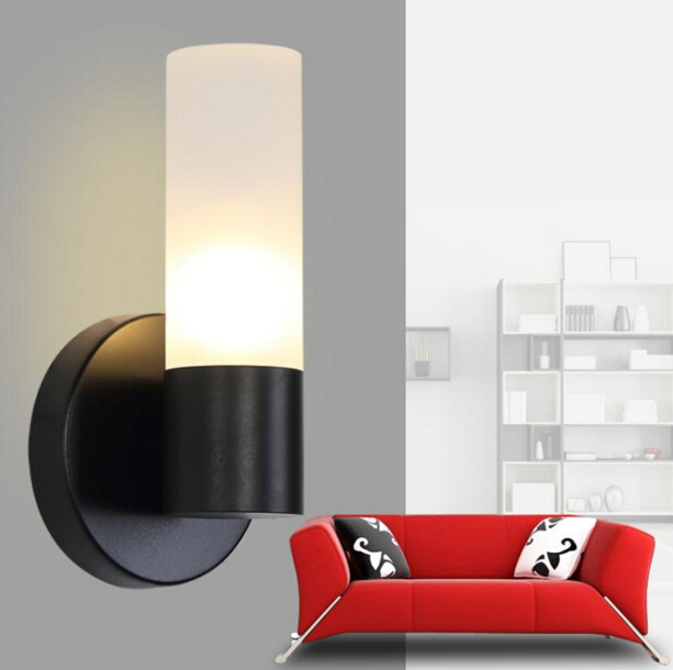 Modern Simple Bedroom Bedside Aisle Wall Lamp Nordic Personality Creative Restaurant Living Room Wall Lamp Free Shipping round crystal lamp bedroom bedside lamp wall lamp simple modern personality aisle led living room wall