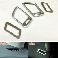 Car Air Vent Conditioning Outlet Cover Trim Interior Protection Stickers Fit For Nissan Qashqai J11 2016 2019 4Pcs
