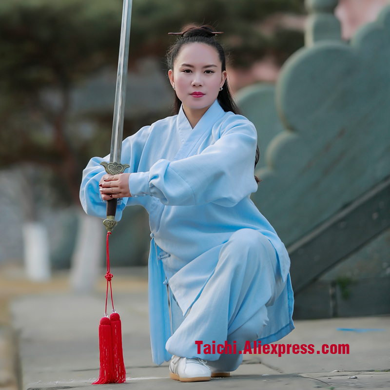 Male Female Practicing Tai Chi Uniforms Kung Fu Performance Clothing Wushu Clothing Martial Art Uniforms