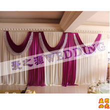 wholesale and retail 10ftx20ft white and purple wedding stage backdrop decorations ,backdrop curtains, backdrop wedding