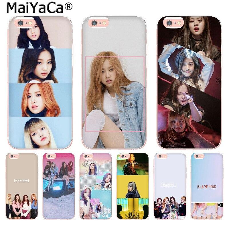 Maiyaca черный розовый K-поп KPOP новые Новое поступление Мода телефона чехол для iphone 8 7 6 6 S плюс x 10 5 5S SE 5C 4 4S Coque В виде ракушки