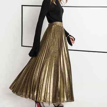 2019 Spring New Arrival High Waist Accordion Pleated Skirt Korean Style Vintage Skirt Faldas Largas Elegantes Free Shipping - DISCOUNT ITEM  25% OFF All Category