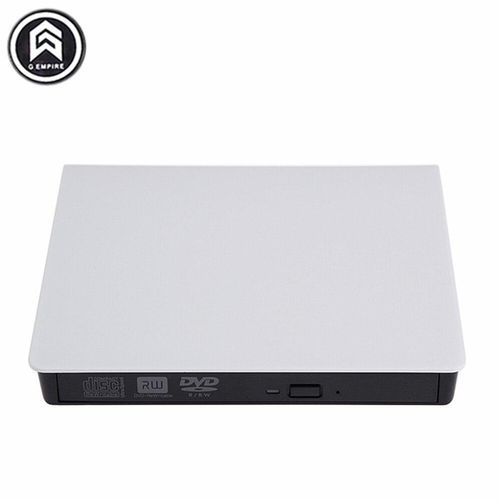 Prix pour Nouveau Portable External Slim USB 3.0 DVD-RW/CD-RW Graveur Enregistreur Lecteur Optique CD DVD ROM Combo Pour ordinateur portable PC blanc