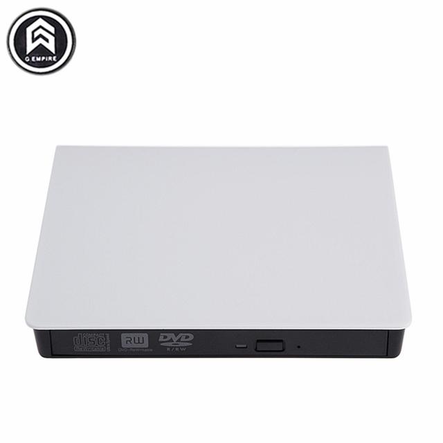 Novo Portátil Slim Externo USB 3.0 DVD-RW/Gravador de CD-RW Burner Escritor Unidade Óptica CD DVD ROM Combo Para laptop PC branco