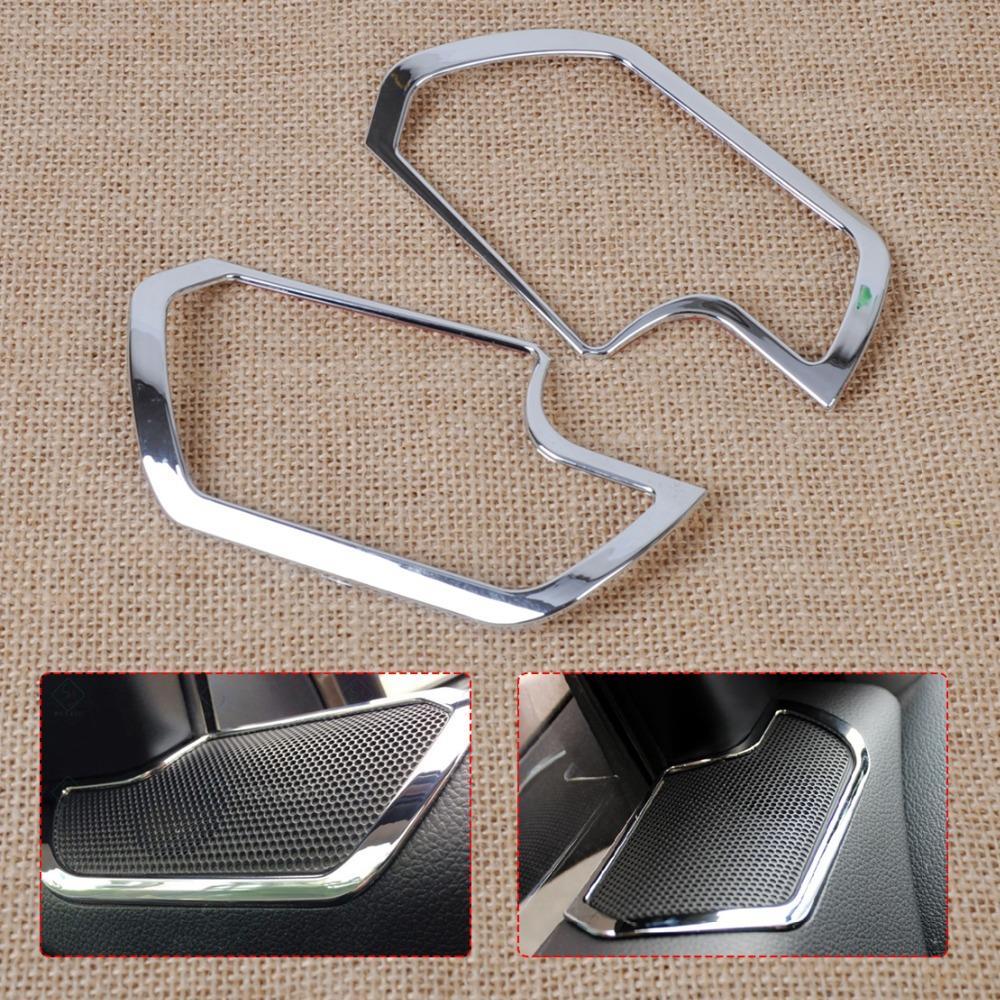 DWCX Hohe Qualität 2 Stücke Chrom Innenraum Tür Stereo Lautsprecher Dekorative abdeckung Trim für Kia Sportage R 2011 2012 2013 2014 2015