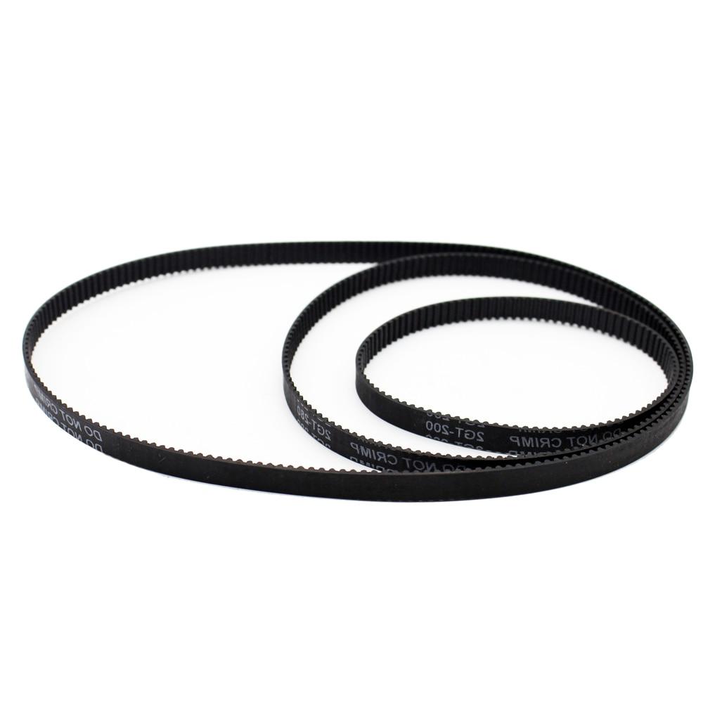 GT2 Round Closed  Loop Timing Belt for GT2 3D Printer 2GT Width 6mm L 852mm