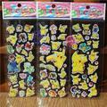 100 Hojas de 3D Pegatinas De Espuma de Dibujos Animados Modelo de Juguete Pikachu Regalo de Moda Para Niños Bebé de Juguete