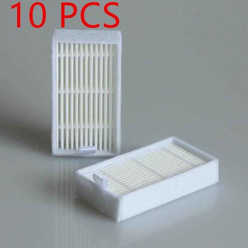 Vacuum Cleaner Accessory Pack 10 PCS HEPA Filter For Panda X500, GUTREND JOY90/FUN110, ECOVACS CR120/CEN540 HEPA Filter