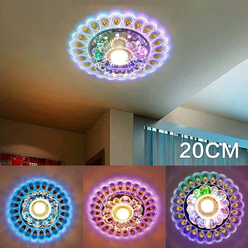 20cm Crystal LED Light Lighting Living Room Peacock Ceiling Chandelier Lamp Celling Lamp Husehold Light Supply