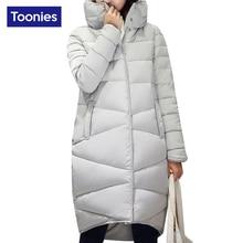 Cotton Padded Warm Down Parkas Elegant Winter Jacket Turtleneck Collar Zipper Casual Plus Size XXL Outwear Casacos Womens Parka