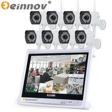 EINNOV 7CH/8CH 7pcs/8pcs 720P Outdoor IR Night Vision Video Security CCTV IP Camera 12″LCD screen 8CH NVR home Surveillance Kits