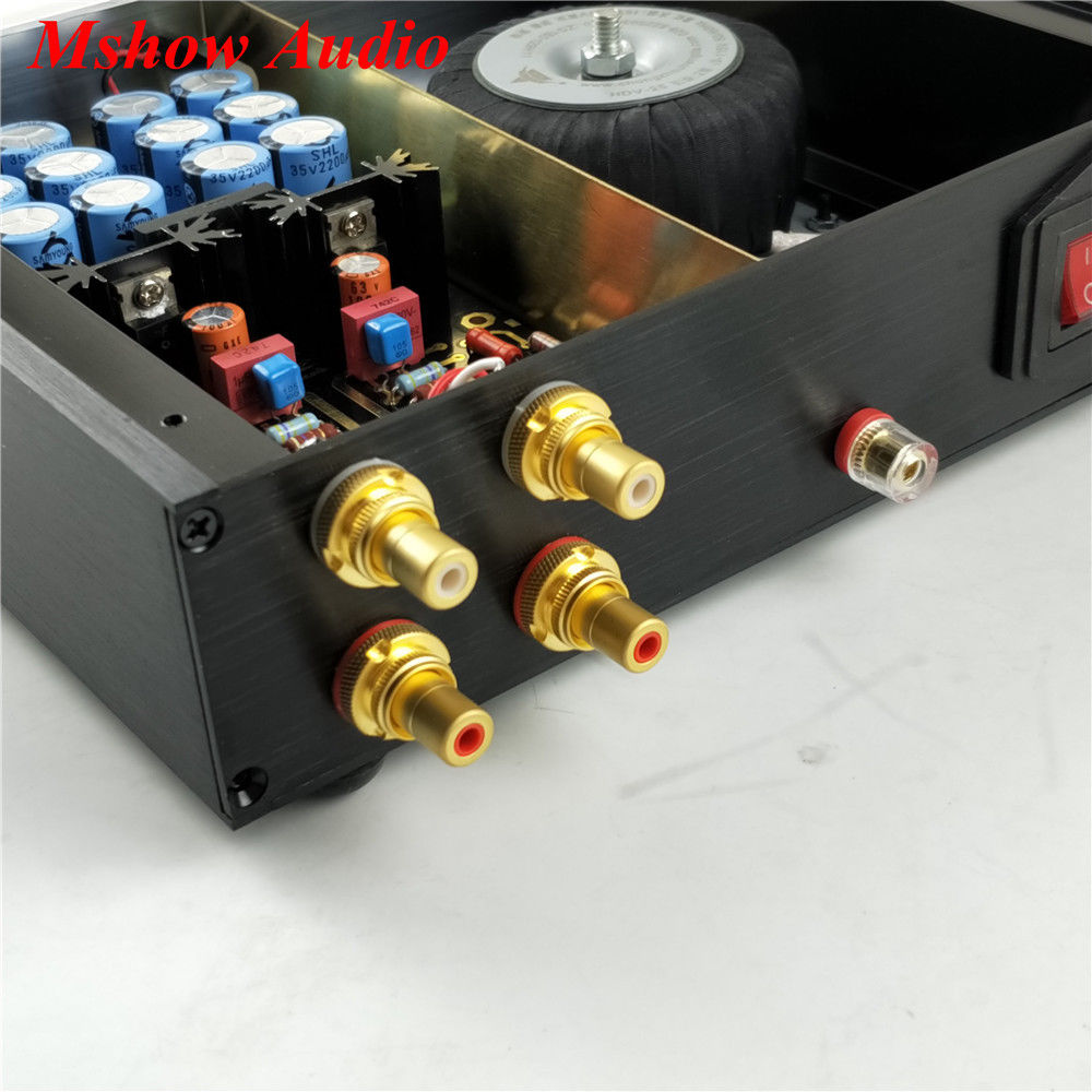 Finished HIFI DUAL Circuit Phono Turntables MM Phono Amplifier Audio with opa2277 high quality