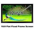 Бестселлером проекционный экран 92 дюймов стене висит DIY плоский кадр экраны 16:9 с высоким коэффициентом усиления 1.2