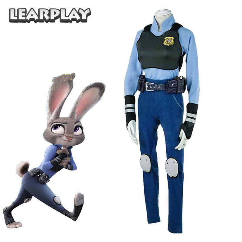 Zootopia Judy Hopps Cosplay Costume Halloween Adult Women Party Costumes цены