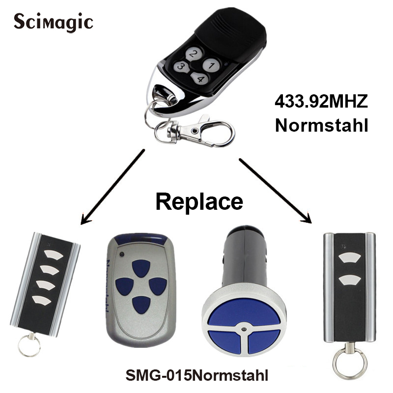 Normstahl RCU 433 2K Remote Control Garage Door Opener Normstahl Rolling Code 433,92 MHz For Gate Control Command 433mhz Key Fob