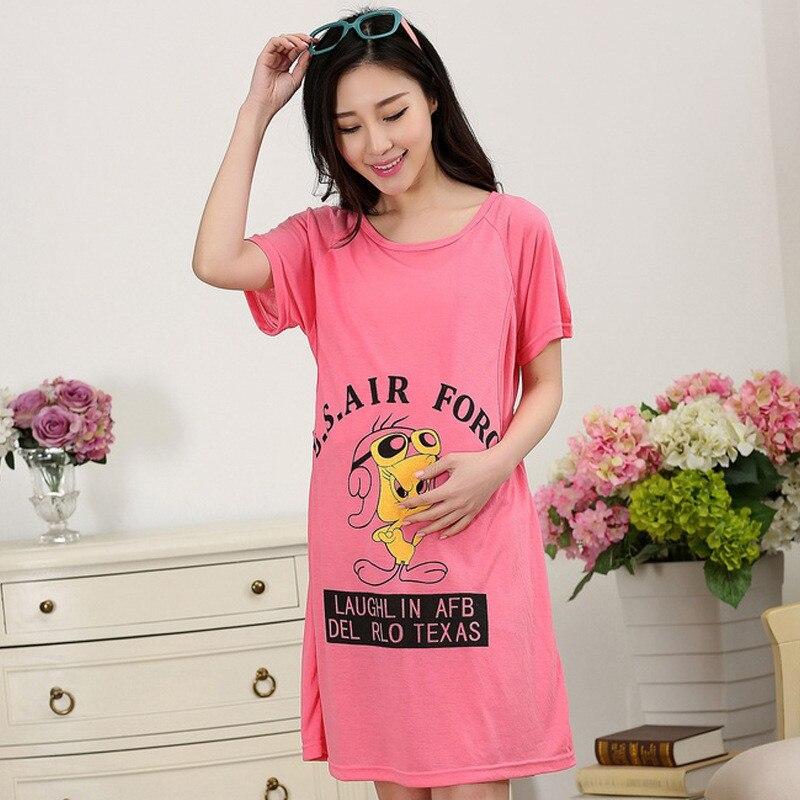 New Maternity Sleepwear Dress Pajamas Plus Size Pregnancy Nursing ... 7d7941646