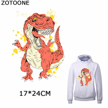 ZOTOONE Jurassic Park Iron on Patches for Clothing Dinosaur Transfer Patch Clothes T-Shirt Stickers DIY Decor Appliques E