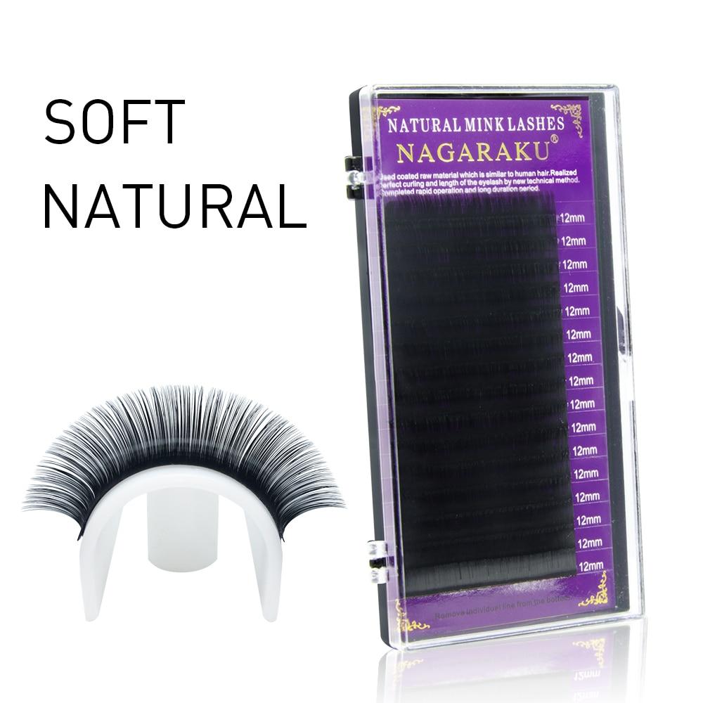 Image 5 - NAGARAKU high quality faux mink eyelash extensions individual eyelashes false eyelashes J B C D soft and natural eyelashes-in False Eyelashes from Beauty & Health