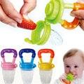 Nueva Suave de Seguridad de Silicona Pezón Bebé Alimentos Para Bebés Chupetes Chupete Chew Frutas Verduras cepillo de Dientes de Gel de Sílice Pezón T0123