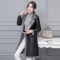 Women Leather Jackets Winter Suede Coats Girl Leather Jackets Female Coat Lady Thicken Casual Outerwear BLACK GRAY