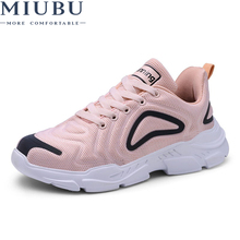 MIUBU Summer Women Sneakers Shoes Plus Size Unisex Flat Light Walking Outdoor Breathable Mesh Lady