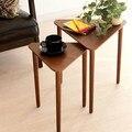 Madeira maciça lado do canto algumas minimalista e moderno pequena mesa de café sala de estar sofá mesa lateral