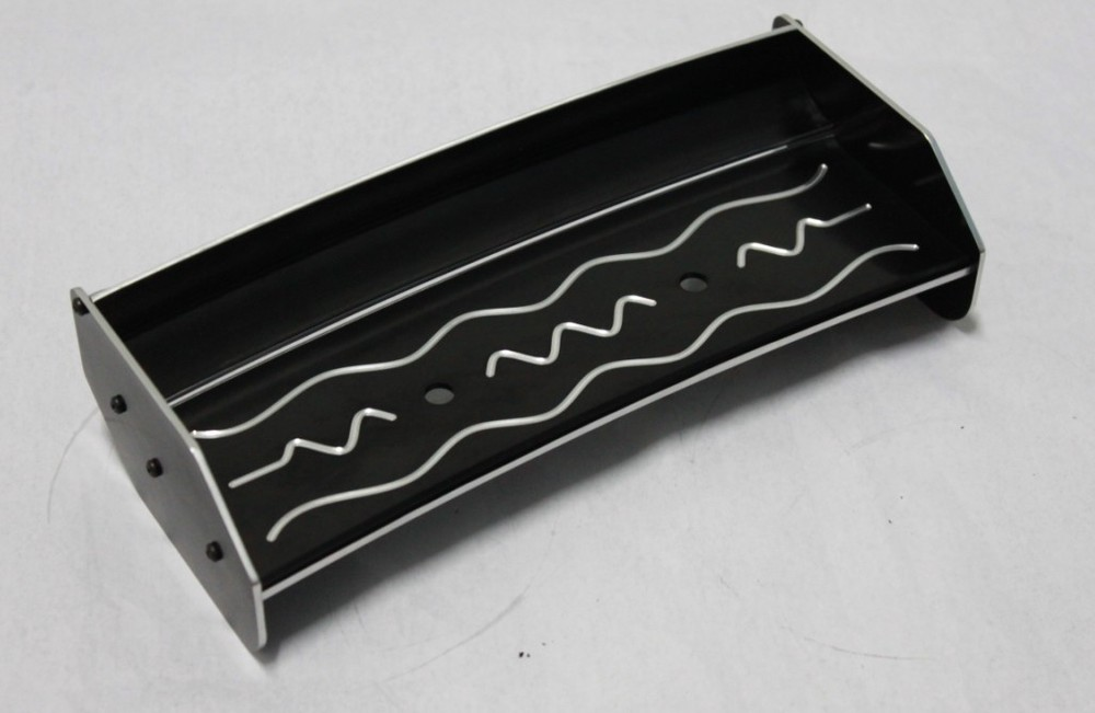 baja Alloy rear wing(dark) black color 66064 baja alloy alloy rear wing