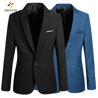 2017 New Man Casual Suit Korean Style Slim Coat Good Quality Cheap Plus Size S 4XL