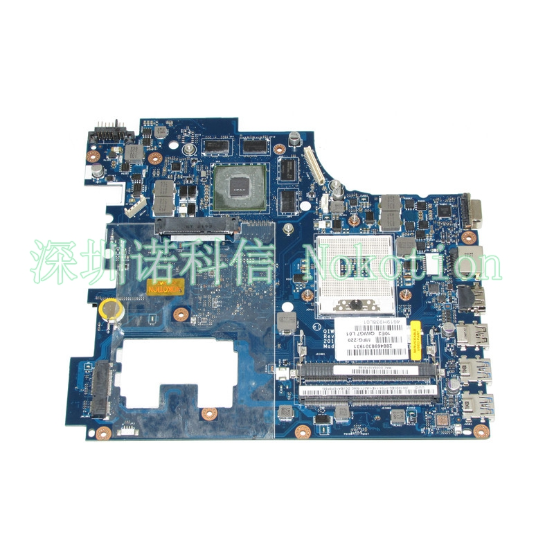 все цены на  NOKOTION laptop motherboard for Lenovo Ideapad G780 17.3'' QIWG7 LA-7983P HM76 PGA989 DDR3 GT635M 2GB Mainboard works  онлайн